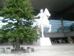 中庭にあった像